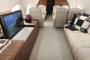 Augusta National Gulfstream Interior Private Charter Patronscaddy The Masters