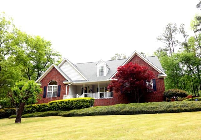 Photograph Of Brick Bungalow Used By Guests Of The Patrons Caddy When Attending The Masters In Augusta, Georgia.