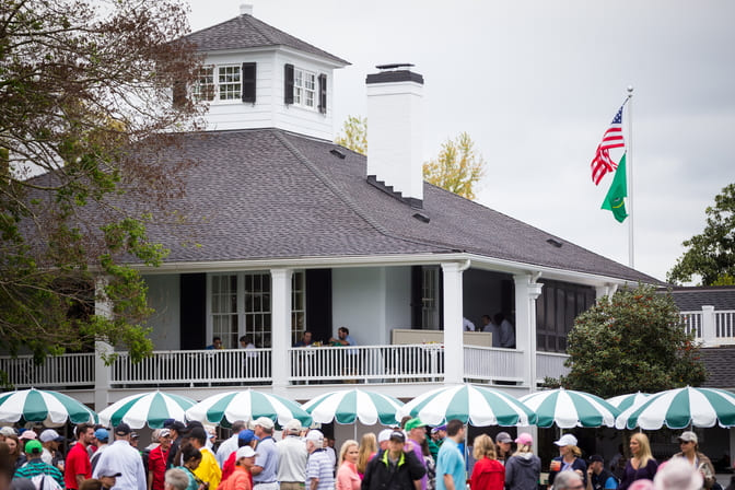 Photograph of the Augusta National Clubhouse